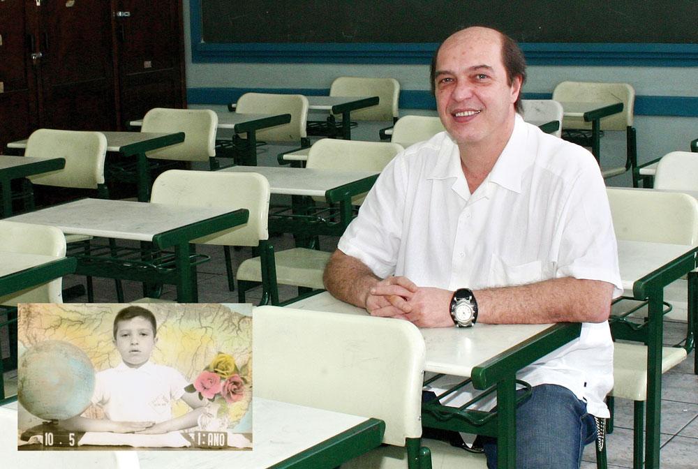 """""""O professor Demétrio sempre implicava com meu chiclete, inclusive me chamava de ruminante"""". Joel Abrão, arquiteto"""