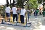 PRAÇA GENERAL COSTA BARRETO: Reforma inclui aparelhos de exercício
