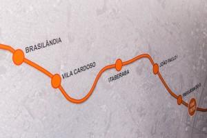 Metrô Linha 6-Laranja tem obras iniciadas