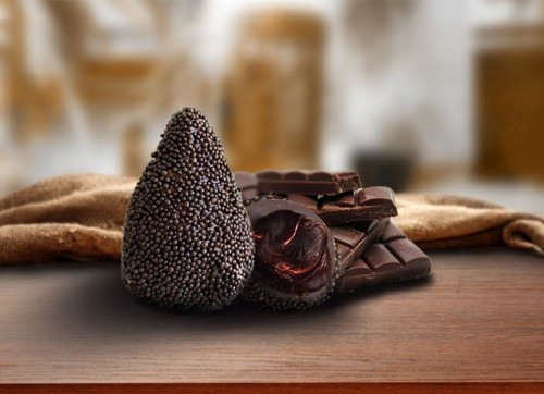 A coxinha de chocolate também é uma das opões do festival no Tatuapé