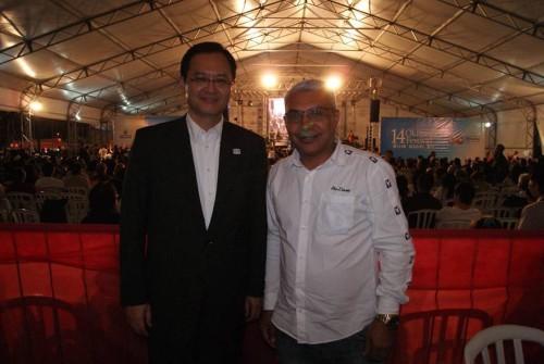 O subprefeito Maciel ao lado do cônsul geral do Japão em São Paulo, Takahiro Nakamae