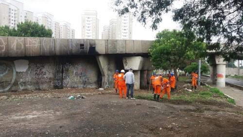 LIMPEZA NO TATUAPÉ – PM e Prefeitura se únem