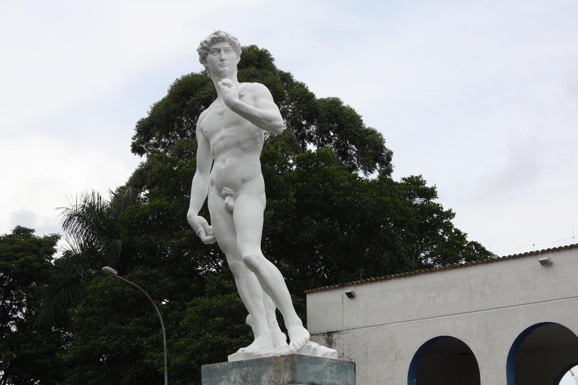 Estátua de Davi: primeira fase concluída