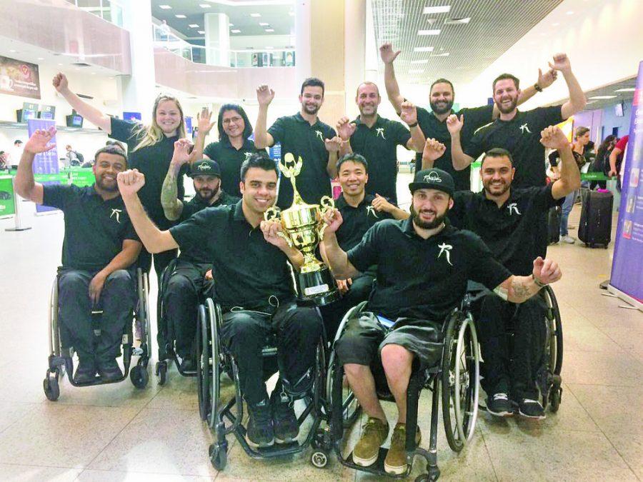 Time de Rugby em Cadeiras de  Rodas que treina no Ceret conquista compeonato