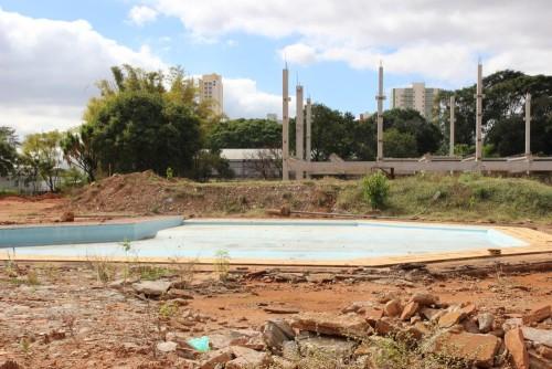 Antiga área das piscinas