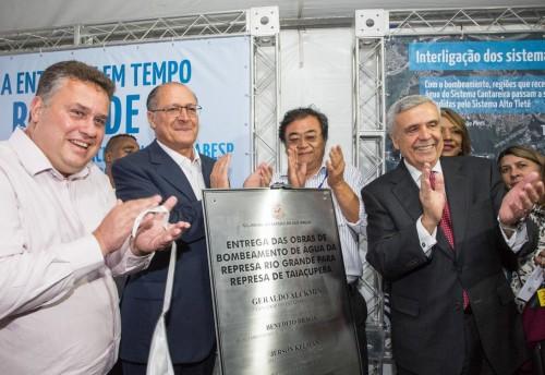 Geraldo Alckmin fez a inauguração da interligação dos sistemas